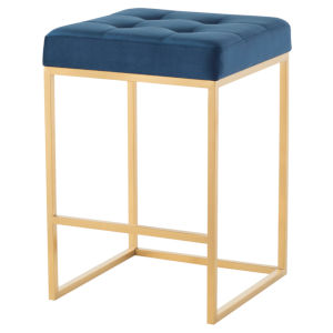 Chi Navy and Gold Counter Stool