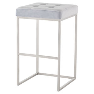 Chi Ice Blue and Silver Bar Stool