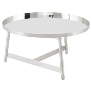 Landon Polished Silver Coffee Table