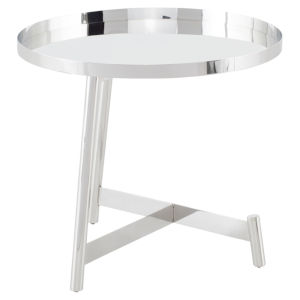 Landon Polished Silver Side Table