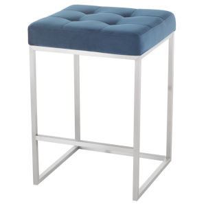 Chi Navy and Silver Counter Stool