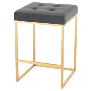Chi Gold and Gray Counter Stool