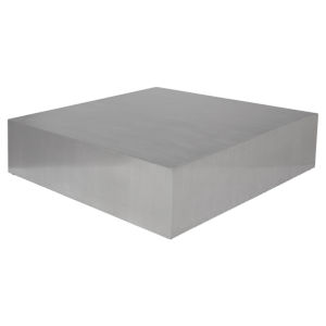 Siren Brushed Silver Coffee Table
