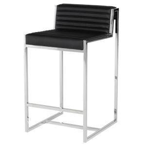 Zola Black and Silver Counter Stool