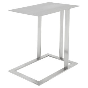Celine Brushed Silver Side Table