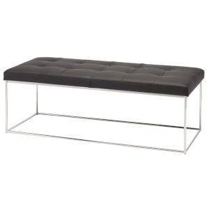 Caen Black and Silver Bench