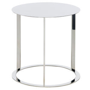 Vera Polished Silver Side Table