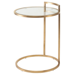 Lily Brushed Gold Side Table