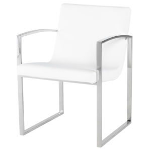 Clara White and Silver Dining Chair