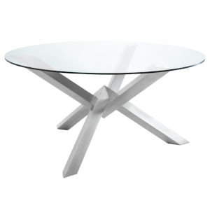 Costa Polished Silver Dining Table