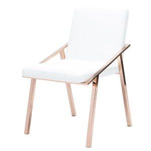 Nika White and Brown Dining Chair