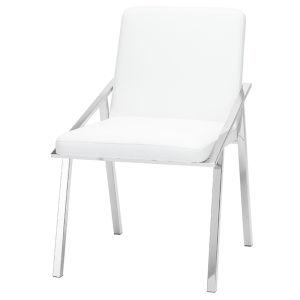 Nika Matte White Dining Chair
