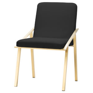 Nika Black and Gold Dining Chair