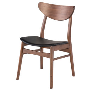 Colby Walnut and Black Dining Chair
