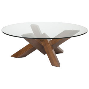Costa Walnut and Clear Coffee Table