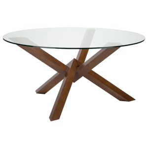Costa Walnut and Clear Dining Table