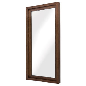 Glam Walnut Wall Mirror