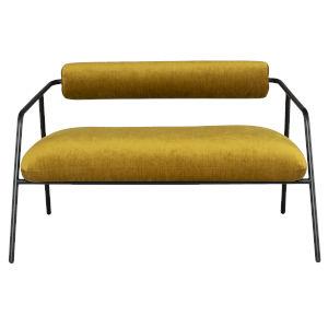 Cyrus Gold Black Double Seat Sofa