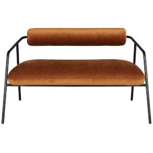 Cyrus Rust Black Double Seat Sofa