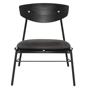Kink Storm Black Occasional Chair