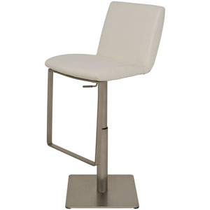 Lewis White Adjustable Stool