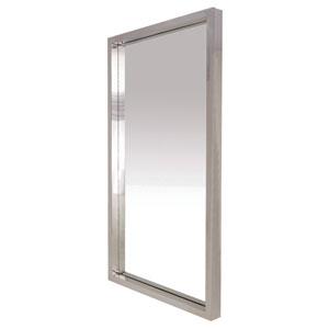 Glam Silver 24-Inch Wall Mirror