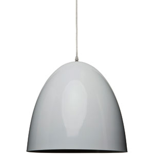 Dome White One-Light Pendant