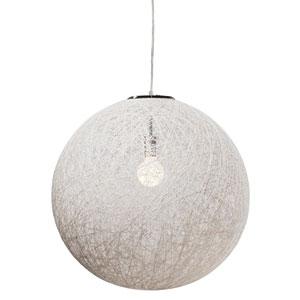 String White 24-Inch One-Light Pendant