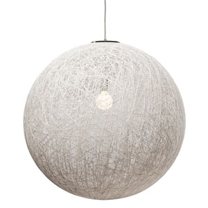 String White 29.5-Inch One-Light Pendant