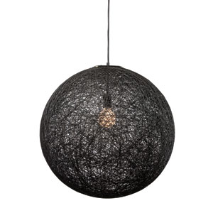 String Black 23.5-Inch One-Light Pendant