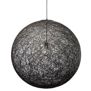 String Black 29.5-Inch One-Light Pendant