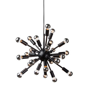 Sputnik Black 24-Light Pendant