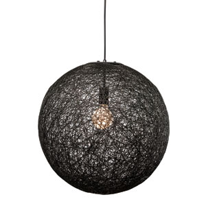 String Black 20-Inch One-Light Pendant