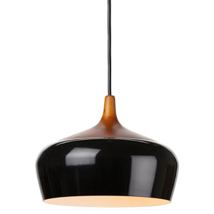Liam Black and Dark Ash 14-Inch One-Light Pendant