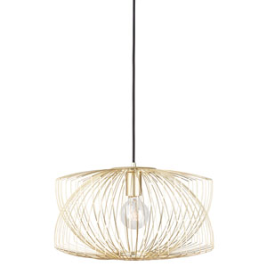 Helia Gold One-Light Pendant