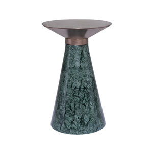 Iris Brushed Copper and Green Side Table