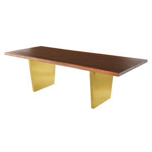 Aiden Matte Seared 96-Inch Dining Table