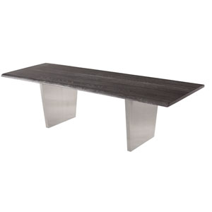 Aiden Matte Oxidized Grey 78-Inch Dining Table