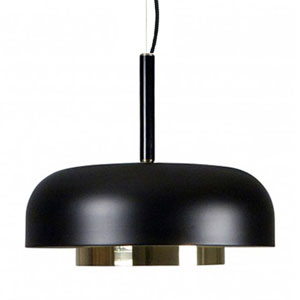 Shaya Black and Brushed Gold One-Light Pendant