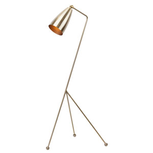 Lucille Antique Brass One-Light Floor Lamp