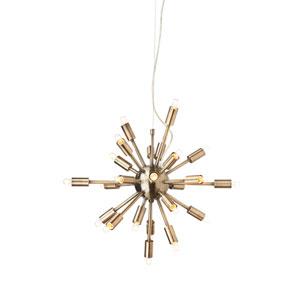 Sputnik Antique Brass 24-Light Pendant