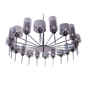 Alexandria Black Chrome 20-Light Chandelier