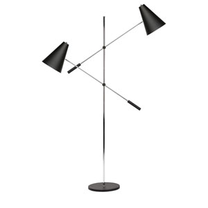 Tivat Black Two-Light Floor Lamp