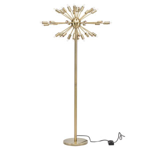 Vladimir Antique Brass 36-Light Floor Lamp