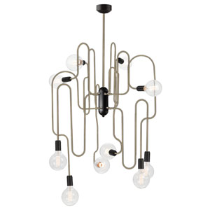Corrine Black 10-Light Chandelier
