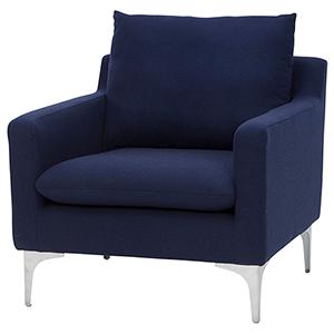 Anders Navy Blue Armchair