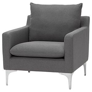 Anders Slate Grey Armchair