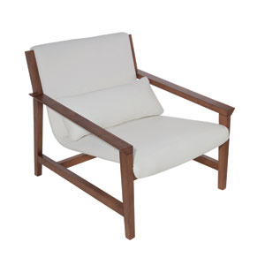 Bethany White Lounger Chair