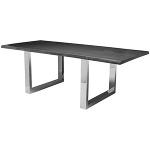 Lyon Oxidized Grey 112-Inch Dining Table