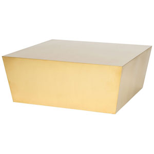 Cube Gold Coffee Table